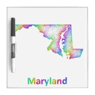 Rainbow Maryland map Dry-Erase Whiteboard