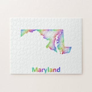 Rainbow Maryland map Jigsaw Puzzle