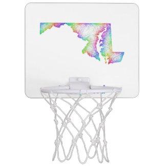 Rainbow Maryland map Mini Basketball Backboard