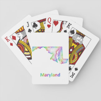 Rainbow Maryland map Playing Cards
