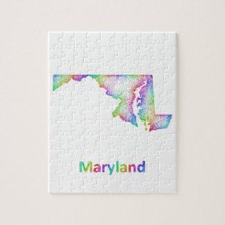 Rainbow Maryland map Puzzles