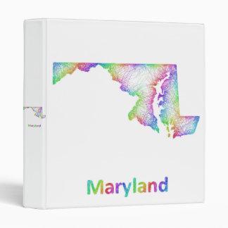 Rainbow Maryland map Vinyl Binder