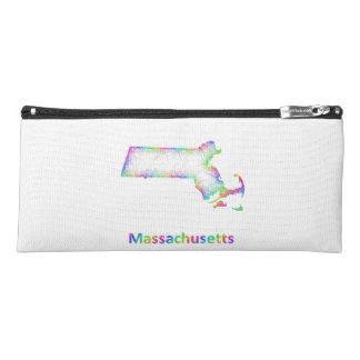 Rainbow Massachusetts map Pencil Case