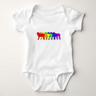 Rainbow Mastiff Baby Bodysuit