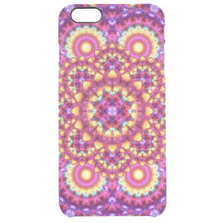 Rainbow Matrix Mandala Clear iPhone 6 Plus Case