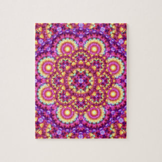 Rainbow Matrix Mandala Jigsaw Puzzle
