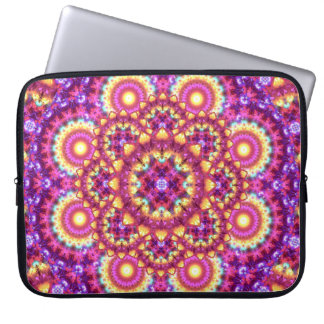 Rainbow Matrix Mandala Laptop Sleeve