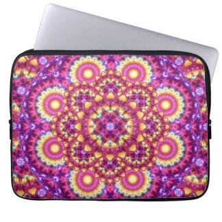 Rainbow Matrix Mandala Laptop Sleeve