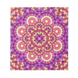 Rainbow Matrix Mandala Notepad