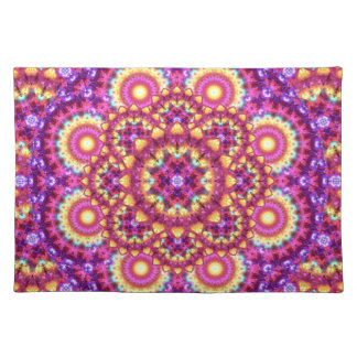 Rainbow Matrix Mandala Placemat