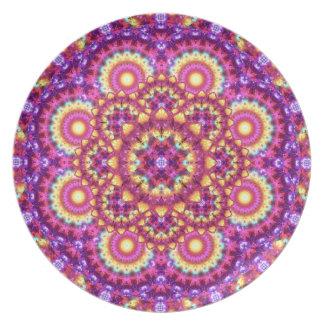 Rainbow Matrix Mandala Plate