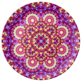 Rainbow Matrix Mandala Plate