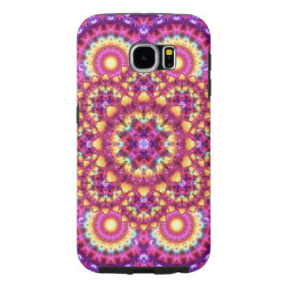 Rainbow Matrix Mandala Samsung Galaxy S6 Cases
