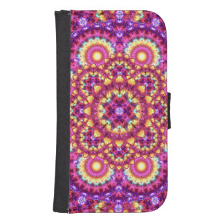 Rainbow Matrix Mandala Samsung S4 Wallet Case