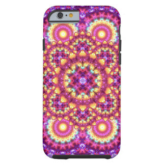 Rainbow Matrix Mandala Tough iPhone 6 Case