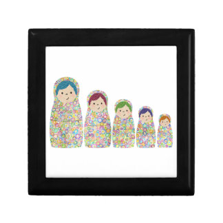 Rainbow Matryoshka Nesting Dolls Jewelry Box