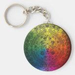 Rainbow Mayan Calendar Keychain