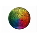 Rainbow Mayan Calendar Postcard