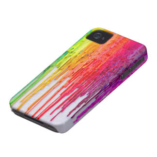 rainbow melting wax iphone iPhone 4 covers