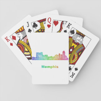 Rainbow Memphis skyline Playing Cards