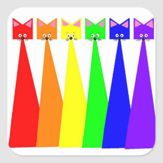 Rainbow Meows Stickers