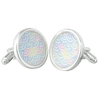 Rainbow Mermaid Pastel Cufflinks