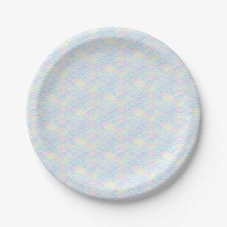 Rainbow Mermaid Pastel Paper Plate