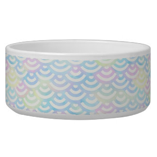 Rainbow Mermaid Pastel Pet Water Bowl
