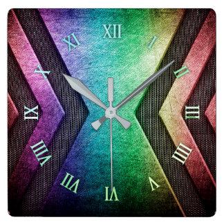 Rainbow Metal design wall clock