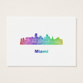Rainbow Miami skyline Business Card