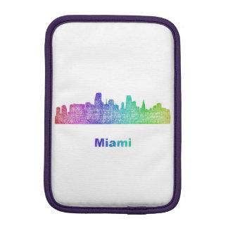 Rainbow Miami skyline iPad Mini Sleeve