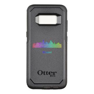 Rainbow Miami skyline OtterBox Commuter Samsung Galaxy S8 Case