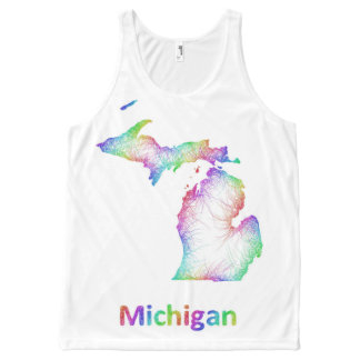 Rainbow Michigan map