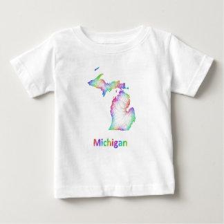 Rainbow Michigan map Baby T-Shirt