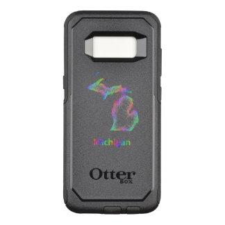 Rainbow Michigan map OtterBox Commuter Samsung Galaxy S8 Case
