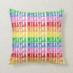 Rainbow Mikayla Throw Pillow
