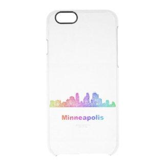 Rainbow Minneapolis skyline Clear iPhone 6/6S Case