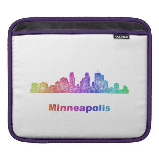 Rainbow Minneapolis skyline iPad Sleeves
