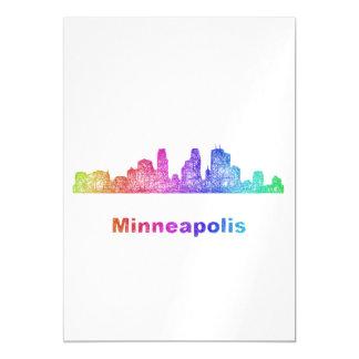 Rainbow Minneapolis skyline Magnetic Invitations