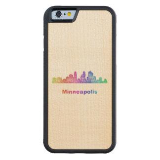 Rainbow Minneapolis skyline Maple iPhone 6 Bumper