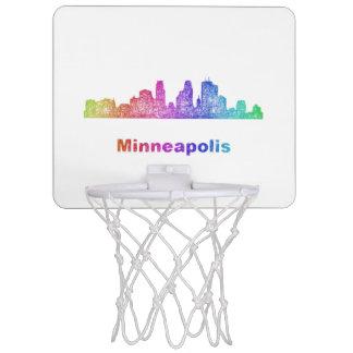 Rainbow Minneapolis skyline Mini Basketball Backboard