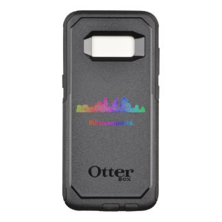 Rainbow Minneapolis skyline OtterBox Commuter Samsung Galaxy S8 Case