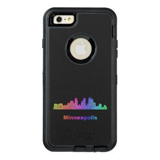 Rainbow Minneapolis skyline OtterBox iPhone 6/6s Plus Case