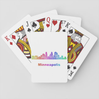 Rainbow Minneapolis skyline Playing Cards