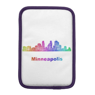 Rainbow Minneapolis skyline Sleeve For iPad Mini