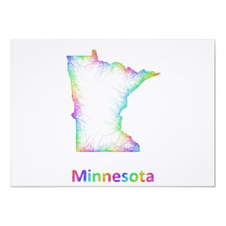 Rainbow Minnesota map Card
