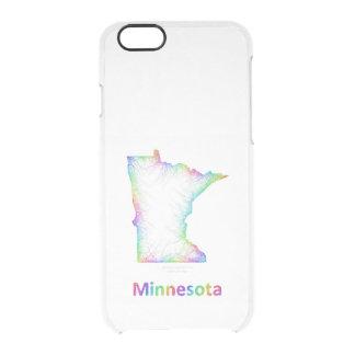 Rainbow Minnesota map Clear iPhone 6/6S Case