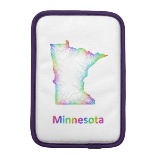 Rainbow Minnesota map iPad Mini Sleeves