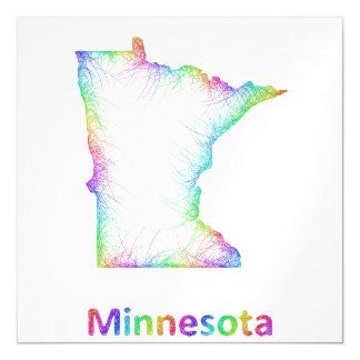 Rainbow Minnesota map Magnetic Invitations