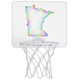 Rainbow Minnesota map Mini Basketball Hoop